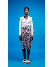 African Inspired Women Printed Shirt, Afya African Print Skirt