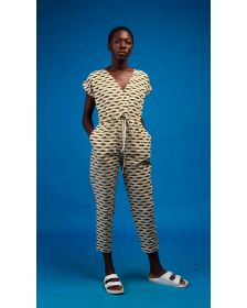 African Inspired Women Traditional Akua African Print Jumpsuit
