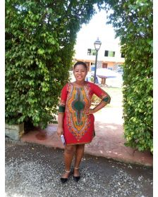 Sika Sika African Inspired Woman Dashiki Dress