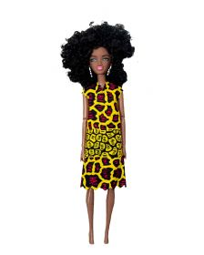 African Inspired Little Girls Kukua Yellow Doll by Cheza Toys