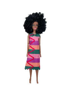 African Inspired Little Girls Purple Kukua Doll by Cheza Tos