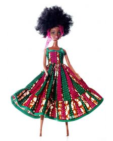 African Inspired Dolls Nkrumah Pencil Dress By Cheza Toys