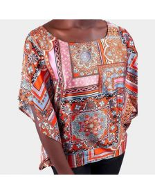 African Inspired Woman Print Savannah Blouse, Ladies Office and Casual Blouse