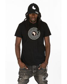 African Inspired Unisex T-shir with  embroidered design - 100% coton