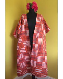Cape Casablanca d'inspiration africaine Woman, style kimono, 18Forever
