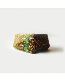 African Inspired Woman Multi Wax Square Bracelet By Boutique Africaine