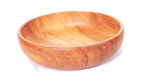Light Brown Afzélia Africana Bowl