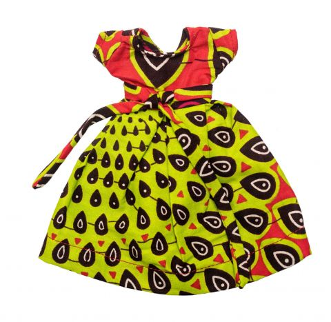 African Inspired Little Girls Gramaphone Apawa DollDress With Belt by Cheza Toys