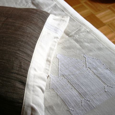 Bedding set cotton woven by hand, queen size