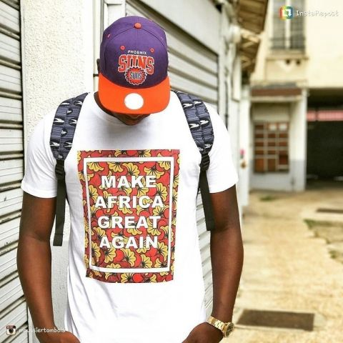 African Inspired Men Tees Make Africa Great Again T-shirt