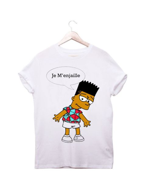 African Inspired Kids Bart Wax T Shirt by Ladjy Clothing