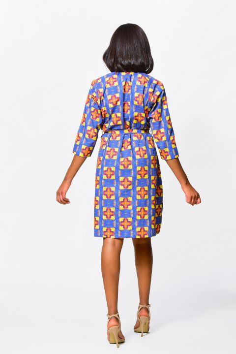 African Inspired Wrapped and Drapped Dress By Alleon Cologne, Women Clothing