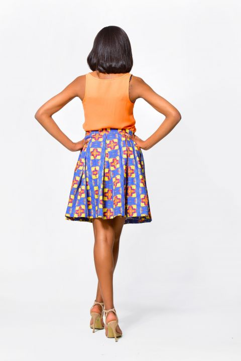 African Inspired Wrapped & Drapped Skirt by Alleon Cologne