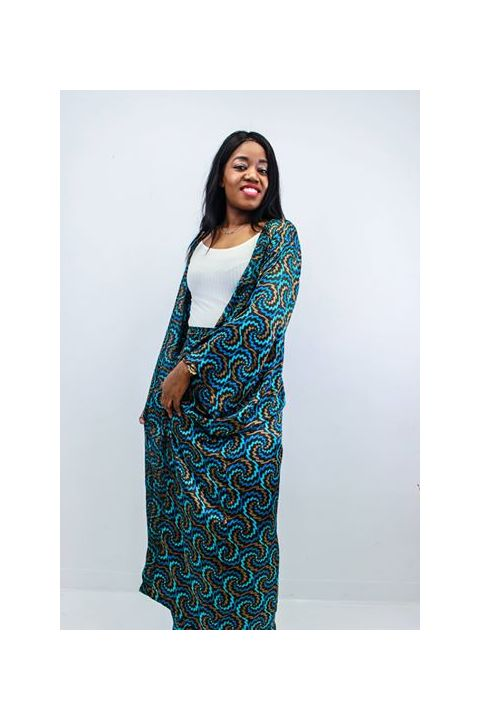 African Inspired 2 Piece Woman Long Ensemble  By Nathanael Creations