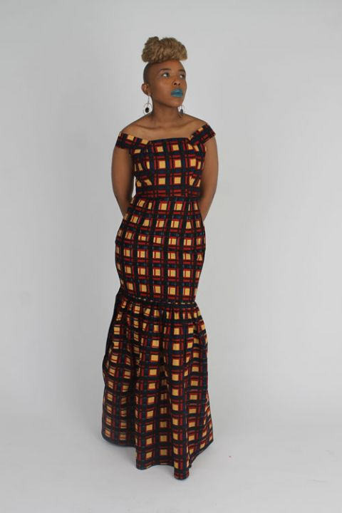 African Inspired Women Fatick Dress By 18Forever, Ladies Wear