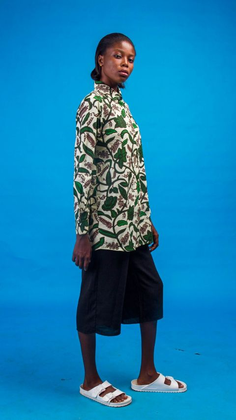 African Inspired Woman Traditional Printed Abena African Print Shirt