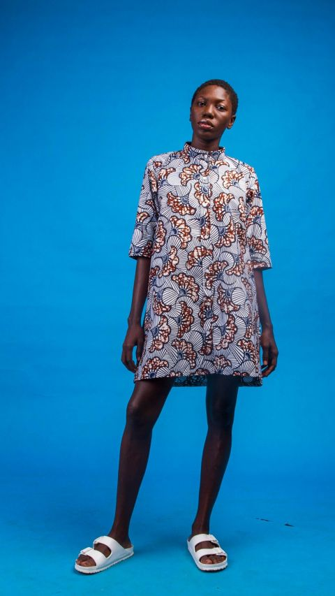 African Inspired Women Ama African Print Shirtdress for ladies